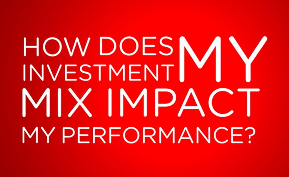 How does my investment mix impact my performance?