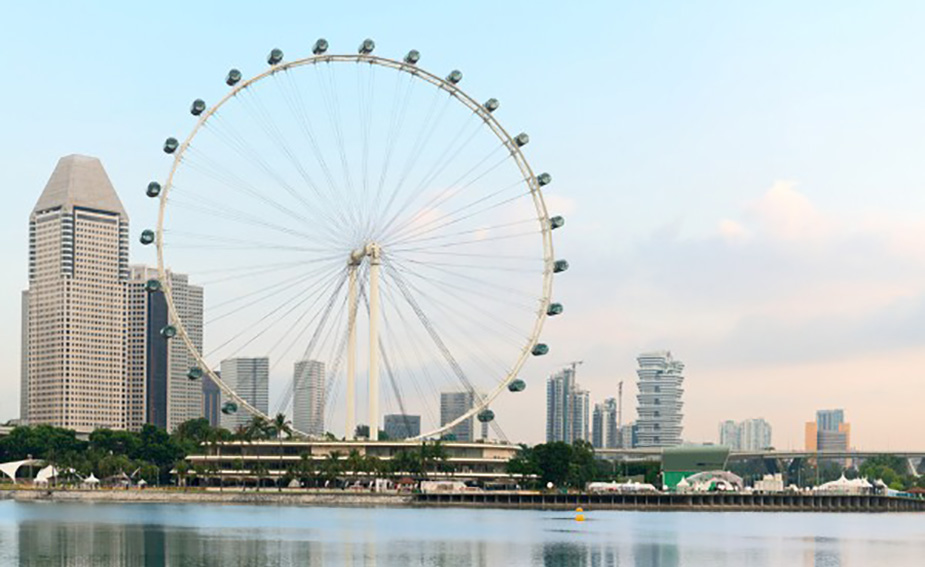 The Singapore Flyer is the tallest Ferris wheel in the world.